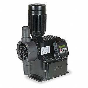 Diaphram Chemical Metering Pump, Max. Flow Rate: 14 gph, Max. Pressure: 150 psi
