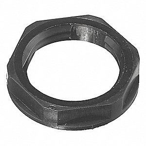 Cord Connector Locknut,Nylon,3/8 In