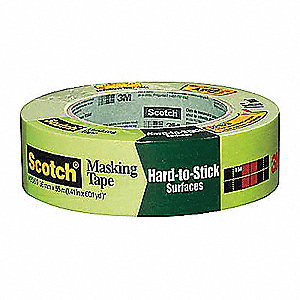 Paper Painters Masking Tape, Rubber Tape Adhesive, 6.00 mil Thick, 36mm X 55m, Green, 24 PK