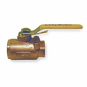 Bronze Ball Valve,Inline,FNPT,3/4 in