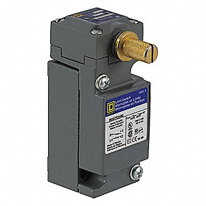Rotary, No Lever Heavy Duty Limit Switch; Location: Side, Contact Form: 2NC/2NO, CW Maintained Movem