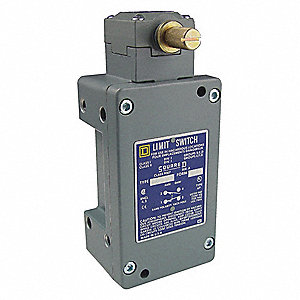 Rotary, No Lever Hazardous Location Limit Switch; Location: Side, Contact Form: 1NC/1NO, CW Maintain