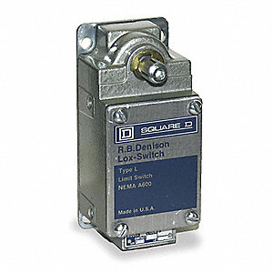 General Purpose Limit Switch, 600VAC/DC Voltage Rating, 20 Amps, Side Actuator Location