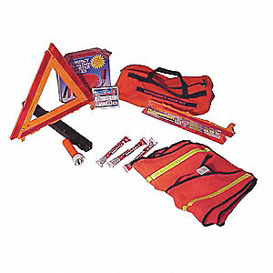 Roadside Emergency Kit/Triangle,12 Piece