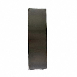 "Panel Toilet Partition, 304 Stainless Steel, Satin, 58"" x 34"""