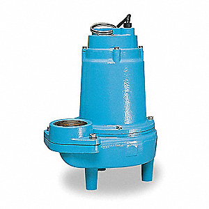 1 HP Manual Submersible Sewage Pump, 230 Voltage, 130 GPM of Water @ 15 Ft. of Head
