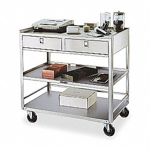 Equipment Stand, 500 Lb,Stainless Steel