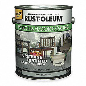 Gloss Acrylic Urethane Floor Coating, Pewter, 1 gal.
