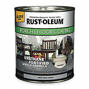 Satin Acrylic Urethane Floor Coating, Dove Gray, 0.25 gal.