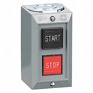 Push Button Control Station, 1NO/1NC Contact Form, Number of Operators: 2