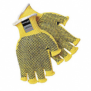 Cut Resistant Gloves,Yellow/Black,S,PR