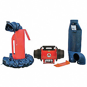 Axial Explosion Proof Confined Space Fan Kit, 1/3 HP, 115VAC Voltage