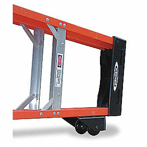 Step Ladder Dolly, Aluminum/Plastic, 250 lb. Load Capacity