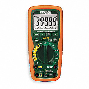 EXTECH (R) EX530 Full Size Digital Multimeter, -50° to 1382°F Temp. Range