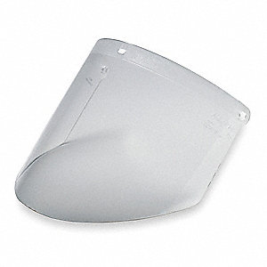 Faceshield Visor,Acetate,Clr,9x18-1/4in