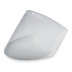 Faceshield Visor,Prpinate,Clr,9x14-1/2in