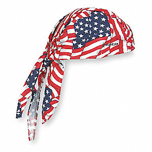Cooling Hat, Terrycloth, Red, White and Blue, Universal