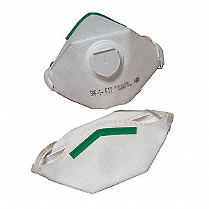 N95 Disposable Particulate Respirator, White, M, 50PK