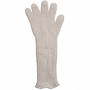 Heat Resistant Glove, Polyester/Cotton, 400°F Max. Temp., Universal, EA 1