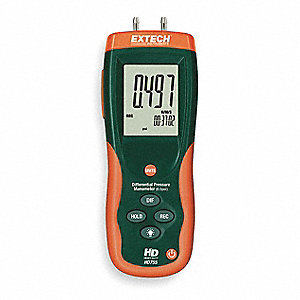 Digital Manometer,0 to 13.85 In WC