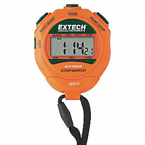 Digital Stopwatch,Backlit LCD,NIST