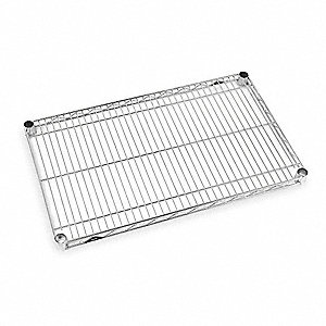 Wire Shelf,1-1/8 H x 24 W x 30 In. D,PK5