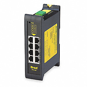 10 to 30 VDC Unmanaged Ethernet Switch with 8 Ports