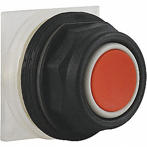 Plastic Push Button Operator, Type of Operator: Flush Button, Size: 30mm, Action: Momentary Push