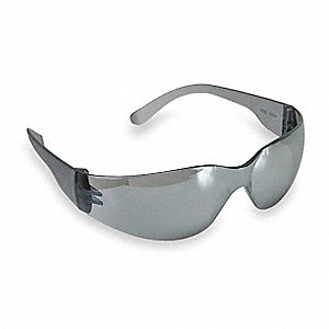 Condor™ Mini V Scratch-Resistant Safety Glasses, Silver Mirror Lens Color