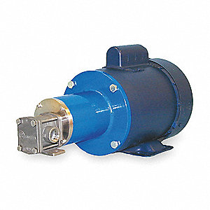 Rotary Gear Pump, 110 psi, 316 Stainless Steel, 1/3 HP, 1 Phase