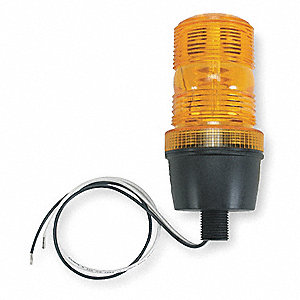Warning Light,Strobe Tube,Amber,120VAC