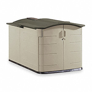 RUBBERMAID Outdoor Storage Shed, XL, H 54 In, W 60 In
