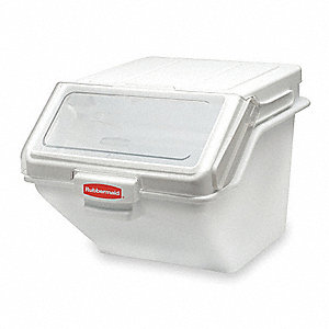 Bulk Storage Bin,42.8qt,w/Scoop and Lid