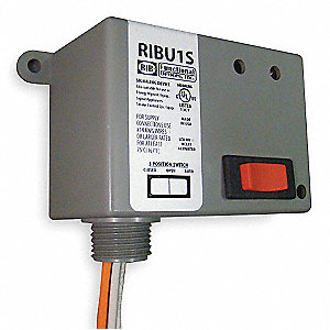 Enclosed Pre-Wired Relay, 10 to 30VAC/DC, 120VAC Coil Volts, SPST Contact Form