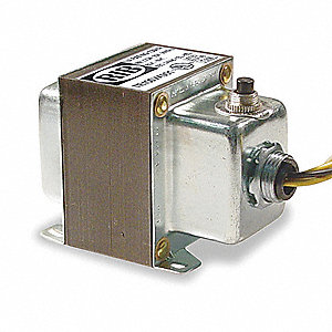 Class 2 Transformer, Input Voltage: 120VAC, Output Voltage: 24VAC