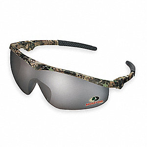 Mossy Oak® Scratch-Resistant Safety Glasses, Silver Mirror Lens Color