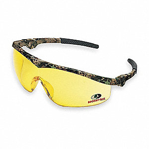 Mossy Oak® Scratch-Resistant Safety Glasses, Amber Lens Color