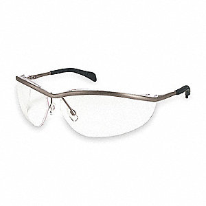 Klondike Metal Scratch-Resistant Safety Glasses, Clear Lens Color