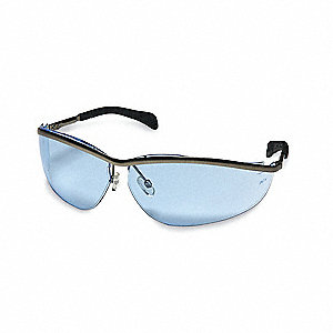 Klondike® Scratch-Resistant Safety Glasses, Light Blue Lens Color