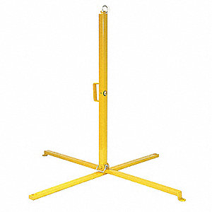 Single Stanchion,39 In. H,Steel