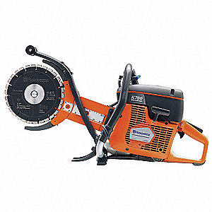 "9"" Wet Cut Power Cutter, 4875 Max. RPM, 4.8 HP, 2-Cycle Gasoline Motor Type"