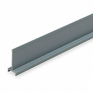 Gray Wiring Duct Divider Wall, Lead Free PVC, 6 ft. Length