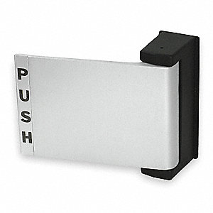 Push/Pull Deadlatch Padle,Satin Aluminum