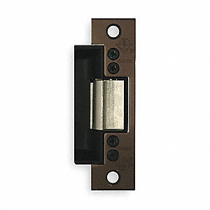 Standard Duty Electric Strike with 1500 lb. Pull Force and Dark Bronze Anodized Finish