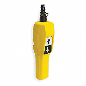 2-Button Up/Down Pendant Push Button Station, 1NO/1NC, NEMA Rating 4, 4X, Yellow