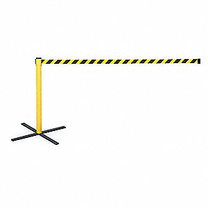 Barrier Post with Belt,13 ft. L