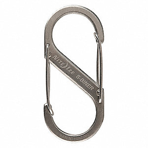 Double Gated Carabiner,2-5/8 In.,Silver