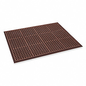 "Interlocking Drainage Mat, Nitrile, Red, 2 ft. 5"" x 3 ft. 3"", 1 EA"