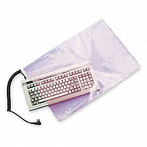 "Open Poly Bag, 4 mil, Pink Low Density Polyethylene (LDPE), Width 9"", Length 12"", 1000 PK"