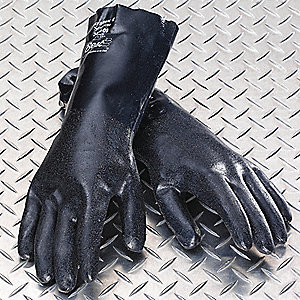 Chemical Resistant Gloves,Blue,Sz 10,PR